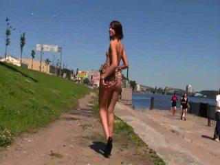 naked, small tits, public
