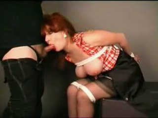 Hot Busty Tied Redhead Milf Gets Her Throat Fucked