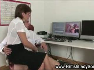 Lady Sonia Sucks And Tugs Dick