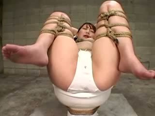 Bathroom tramp gets taken advantage of...