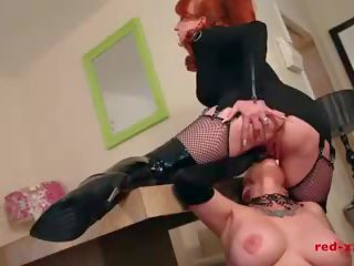 Red Spanks the Hell out of Her New Slaves Ass: Free Porn 6b