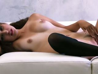 Superb Russian babe Natasha Malkova fondles her nice titties and pussy Video
