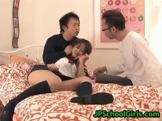 Азіатська школярка virgin манда