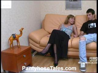 Mima and vitas screened while pantyhosefucking