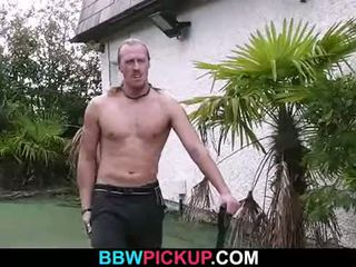 Cock-hungry blonde plumper rides him hard