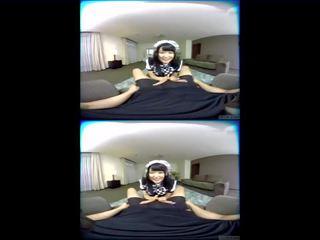 Zenra Vr Japanese Av Star Azuki Maid Handjob Fantasy