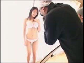 Sexy japonská dívka fucked podle velký černý čurák