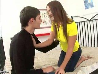 Horny schoolgirl fucking her boyfriend