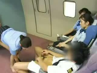 Asia stewardess gangbanged video