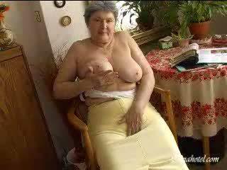 Grannies big tits Video