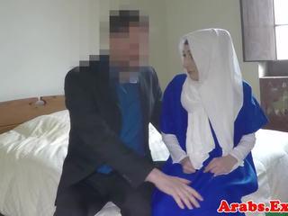 Hijab Muslim Doggystyled Before Sucking Cock: Free Porn 1c