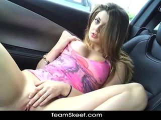 ShesNew Hot Blonde Babe Staci Silverstone Naked Public Point Of View Blowjob