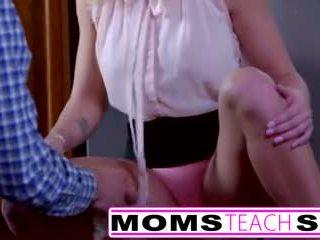 Momsteachsex - Showing My Teen Daughter How to Suck Big Cock Video