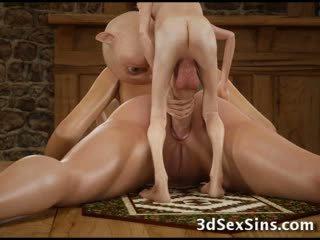 3d hobbits ir tentacles šūdas merginos!