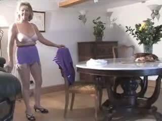 striptease, granny, big tits