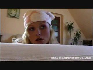 Smutsiga rengöring lady