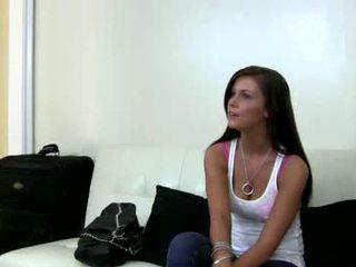 Giggly rumaja brunette on the castingcouchx