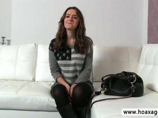 아름다운 euro 아기 kendra 엿 과 jizze 시 그녀의 오디션