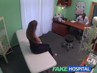 FakeHospital Hot 20s gymnast seduced by doctor and given creampie on the exam table