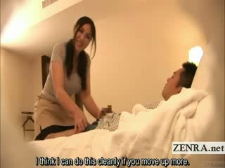 Subtitled japans milf masseuse indecent hotel massage