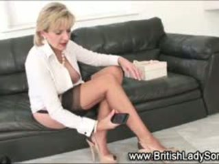 Stocking Milf Lady Sonia Fingering