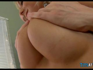 Blonde Skank gets Dick in the Office, HD Porn 36