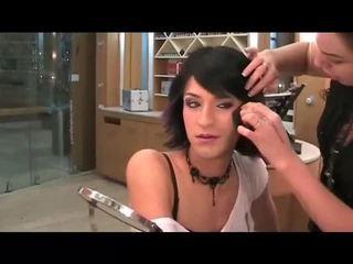 makeup, crossdresser, tvář