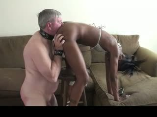 ass licking, old + young, melns un ebony