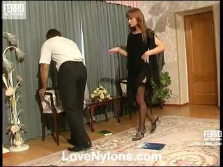 Diana dan lesley videotaped whilst having nylonsex