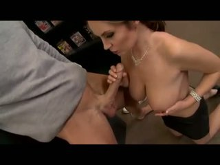 Alexis May slides her juicy lips down a massive meatpole