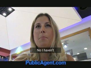 ل جنس agent غير محظوظ إلى اللعنة ل شقراء فتاة في سيارة