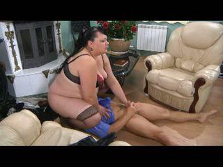 Stunning Matures: Big fat babe facesitting on guy