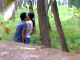 Desi flickvän utomhus knull med boyfriend