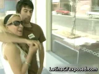 Busty Blonde Latin Darling In Sexy