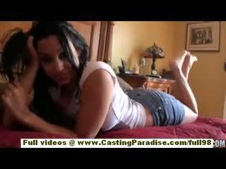 Abella anderson mėgėjiškas lotynų amerikietė paauglys mergaitė su didelis šikna doing smūgis