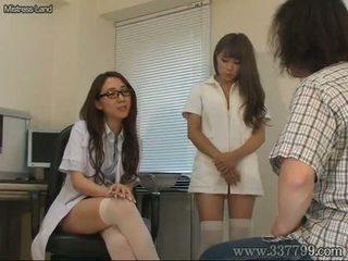 japanisch, cfnm, krankenschwester