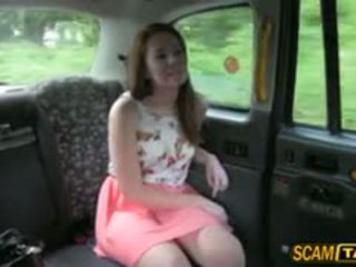 Sexy Candi Sucks And Fucks In The Taxi