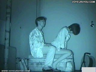 Infrared camera voyeur bench park sexe