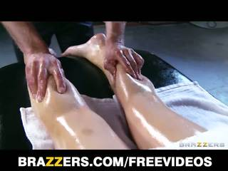 Abbey brooks gets nglengo up & rubbed down by her masseur