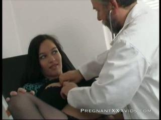 임신 한, 엄마, 의사