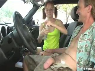 Horny Teen Babe Handjob In The Car full video: http://adf.ly/1TV6mK