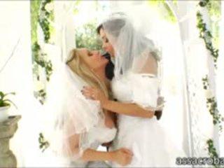 Nice Booty Brides Francesca Le And Julia Ann Ass Pounded
