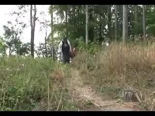 Stor tit besta fucks i den woods