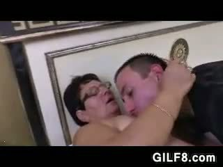 Fat Granny With Glasses Being Fucked
