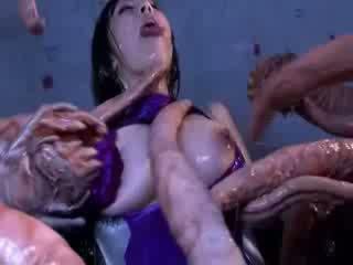 Чудовище tentacles jizzing голям гаф ориенталски порно attacker всички на тяло