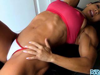 Denise Masino - Ab crunches turn SEXY - Female Bodybuilder