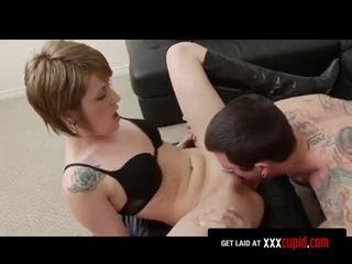 Man Fucks Tattooed Goth Girl From Behind