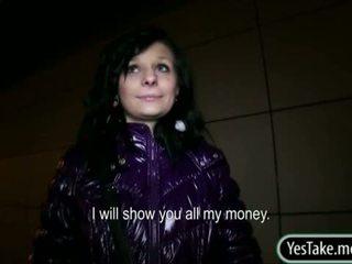 Euro Slut Maja Pussy Fucked For Money