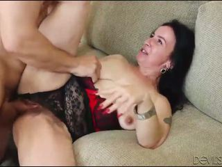 Sexhungry Granny Gets Her Hairy Pussy Pounded