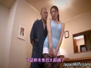 japonês, maduro, nylon